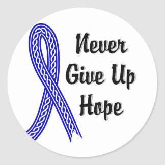 Celtic Never Give Up Hope Anal Cancer Sticker