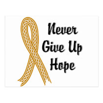Celtic Never Give Up Hope Appendix Cancer Postcard