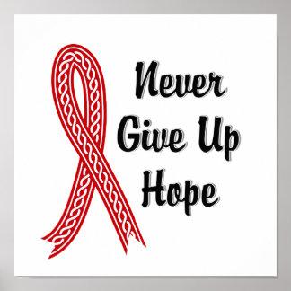 Celtic Never Give Up Hope Blood Cancer Poster