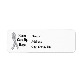 Celtic Never Give Up Hope Brain Cancer Label