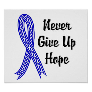 Celtic Never Give Up Hope Colon Cancer Poster
