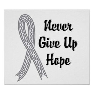 Celtic Never Give Up Hope Diabetes Poster