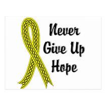 Celtic Never Give Up Hope Endometriosis Postcard