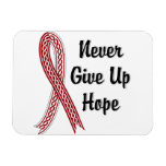 Celtic Never Give Up Hope Head and Neck Cancer Rectangular Magnets