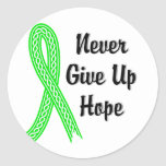 Celtic Never Give Up Hope Lymphoma (Non-Hodgkin's) Classic Round Sticker