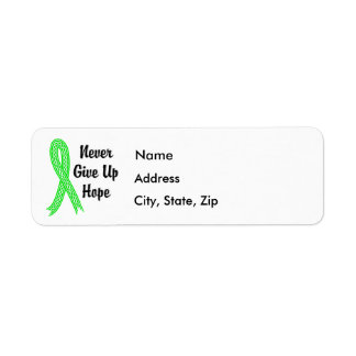 Celtic Never Give Up Hope Lymphoma (Non-Hodgkin's) Label