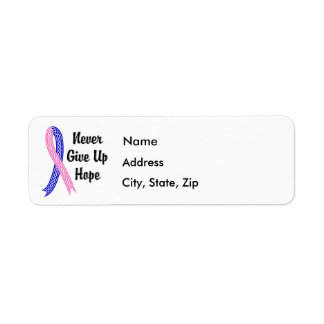 Celtic Never Give Up Hope Male Breast Cancer Label
