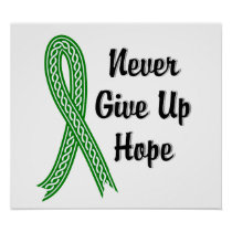 Celtic Never Give Up Hope Mental Health Poster