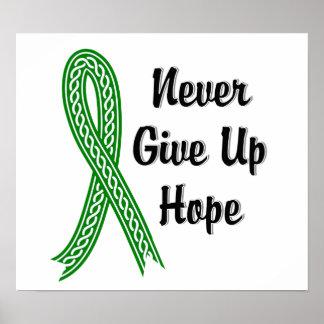 Celtic Never Give Up Hope Mental Health Poster