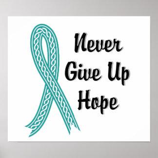 Celtic Never Give Up Hope Ovarian Cancer Poster