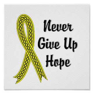 Celtic Never Give Up Hope Sarcoma Poster