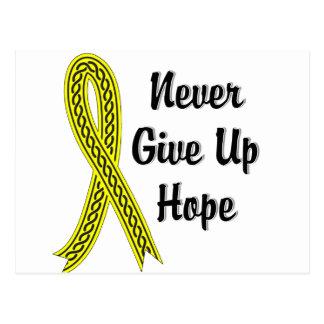 Celtic Never Give Up Hope Testicular Cancer Postcard