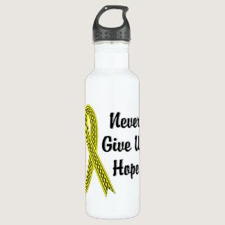 Celtic Never Give Up Hope Testicular Cancer Water Bottle