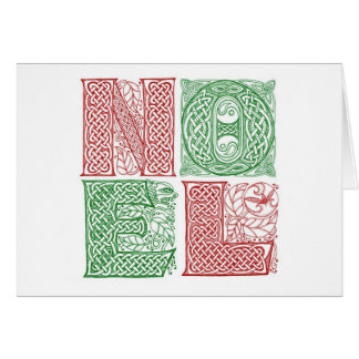 Celtic Noel Card