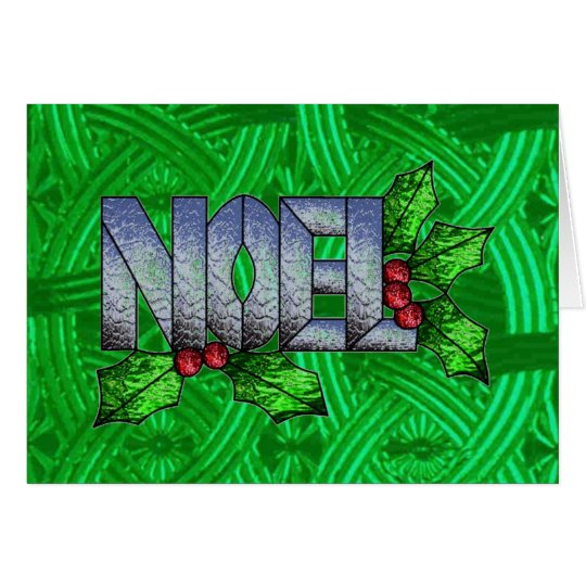 Celtic Noel in Stained Glass Card