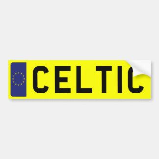 CELTIC Number Plate Bumper Sticker