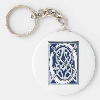 Celtic O Monogram Basic Round Button Keychain