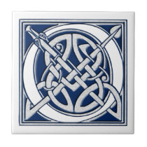 Celtic O Monogram Ceramic Tile