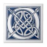 Celtic O Monogram Small Square Tile