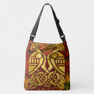 Celtic Organica Fractal Art Crossbody Bag