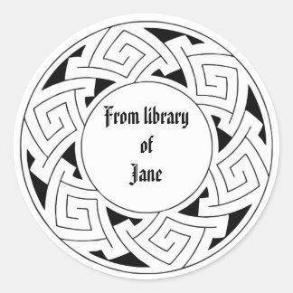 Celtic ornament classic round sticker