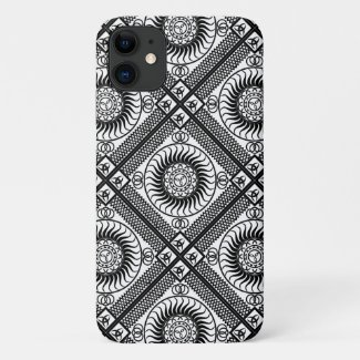 Celtic ornament diagonal iPhone 11 case