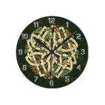 Celtic Ornament Round Clock