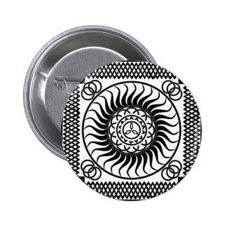 Celtic ornamentation 2 inch round button