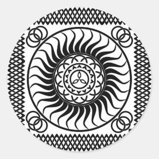Celtic ornamentation classic round sticker