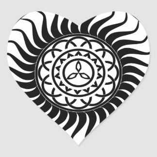 Celtic ornamentation heart sticker