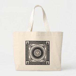 Celtic ornamentation large tote bag