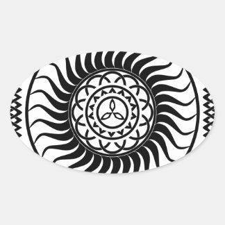 Celtic ornamentation oval sticker