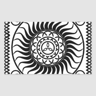 Celtic ornamentation rectangular sticker