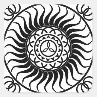 Celtic ornamentation square sticker