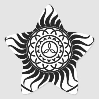 Celtic ornamentation star sticker
