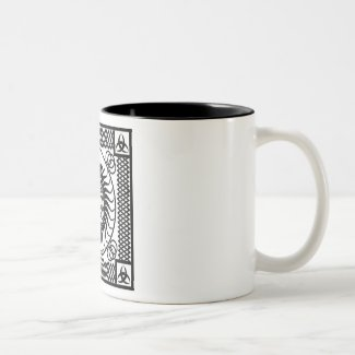 Celtic ornamentation Two-Tone coffee mug