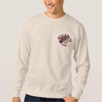 Celtic Owl Embroidered Sweatshirt