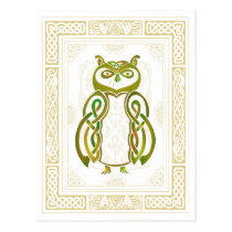 Celtic Owl Postcard
