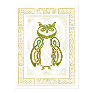 Celtic Owl Postcard