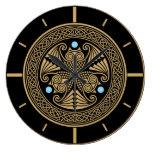 Celtic Owl Trio Large Clock
