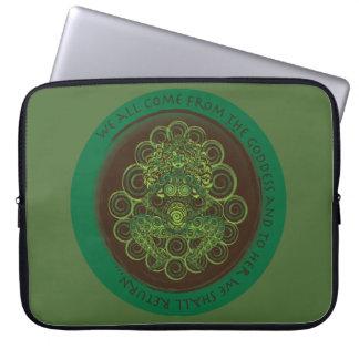 Celtic Pagan Fertility Goddess Computer Sleeve