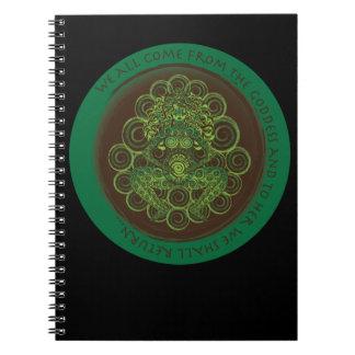Celtic Pagan Fertility Goddess Spiral Note Book