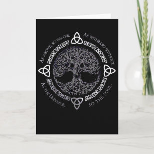 Wiccan birthday cards zazzle celtic pagan tree wiccan greeting card m4hsunfo