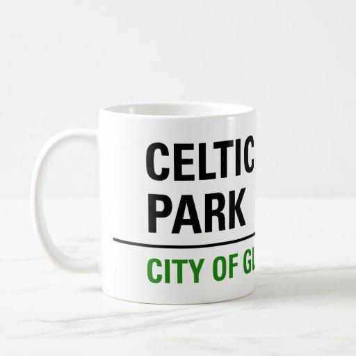 Celtic Park Street Sign Classic White Coffee Mug