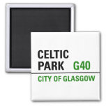 Celtic Park Street Sign Magnet