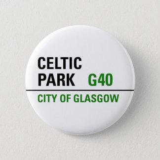 Celtic Park Street Sign Pinback Button