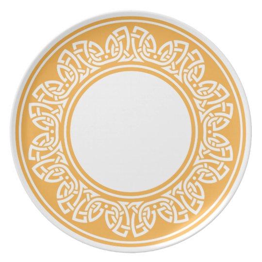 celtic pattern melamine plate