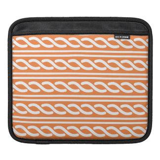 Celtic Pattern orange white iPad Sleeves
