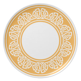 celtic pattern party plate