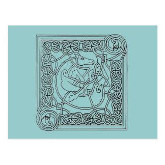Celtic pattern postcard